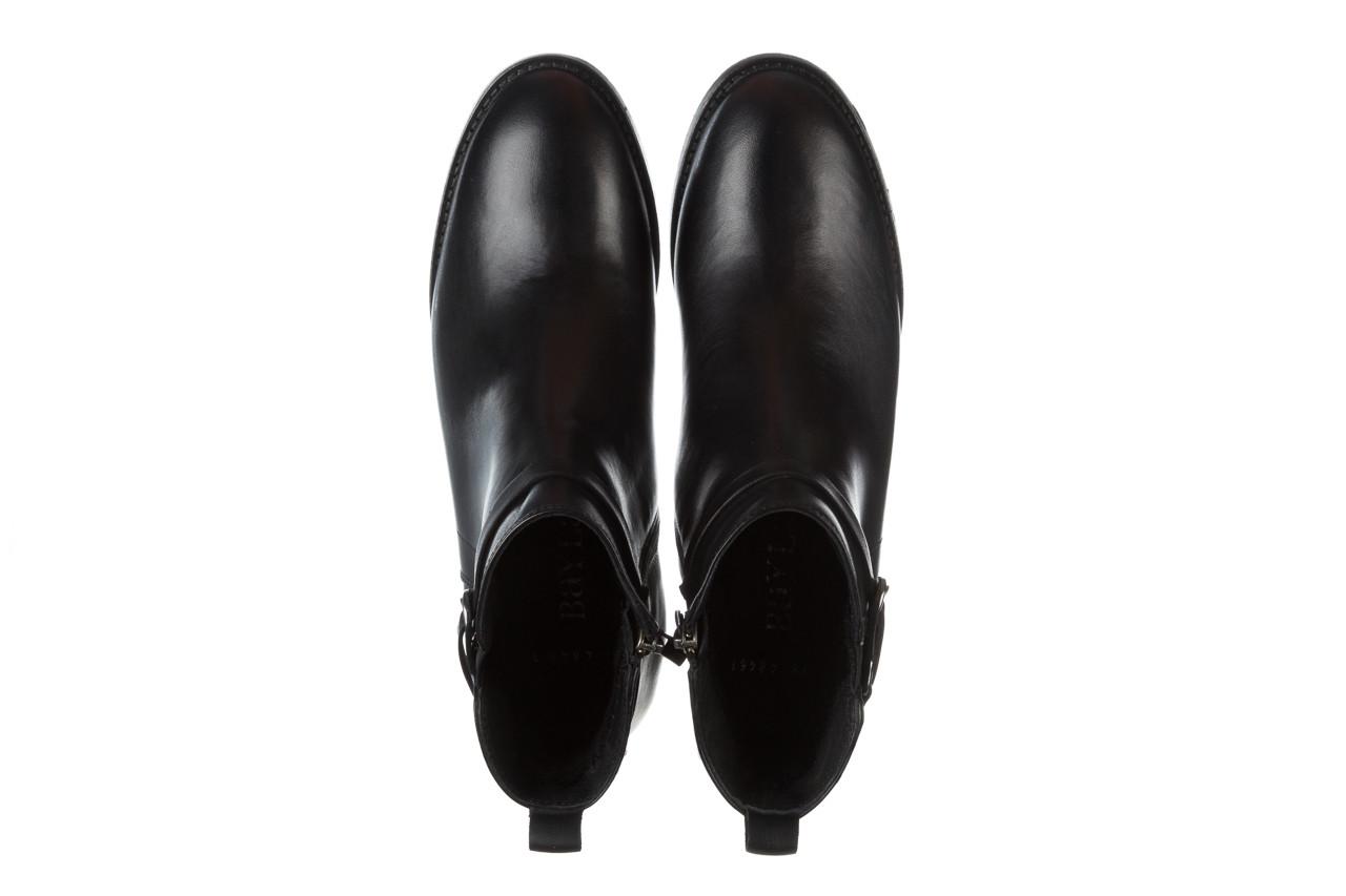 Botki bayla 161 077 48461 black 161184, czarny, skóra naturalna  - skórzane - botki - buty damskie - kobieta 16