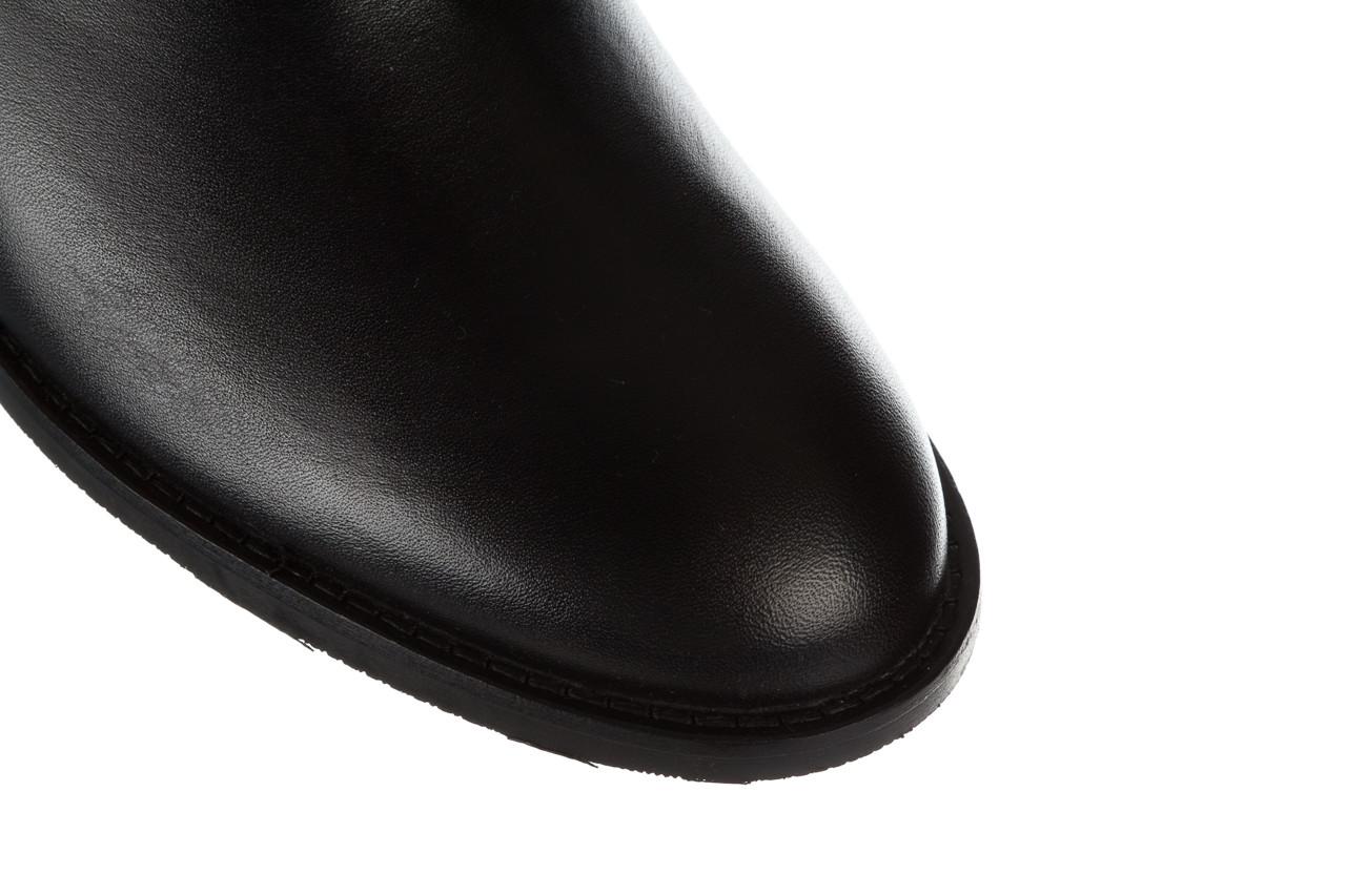 Botki bayla 161 077 48461 black 161184, czarny, skóra naturalna  - skórzane - botki - buty damskie - kobieta 17