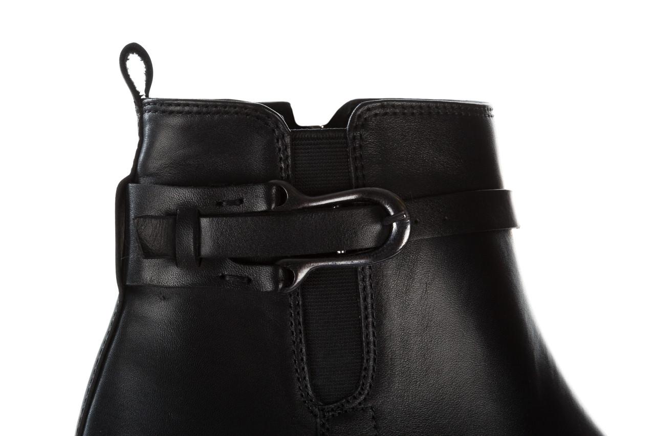 Botki bayla 161 077 48461 black 161184, czarny, skóra naturalna  - skórzane - botki - buty damskie - kobieta 18