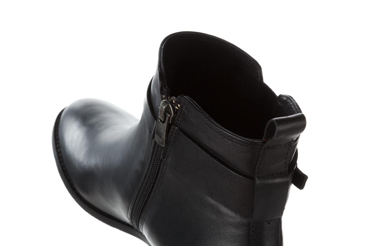 Botki bayla 161 077 48461 black 161184, czarny, skóra naturalna  - skórzane - botki - buty damskie - kobieta 19
