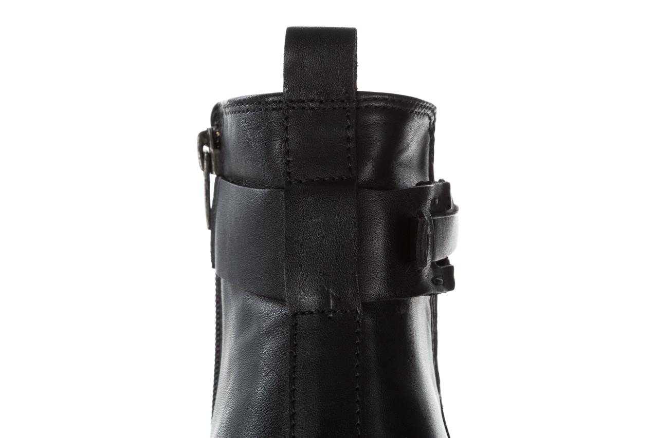 Botki bayla 161 077 48461 black 161184, czarny, skóra naturalna  - skórzane - botki - buty damskie - kobieta 20