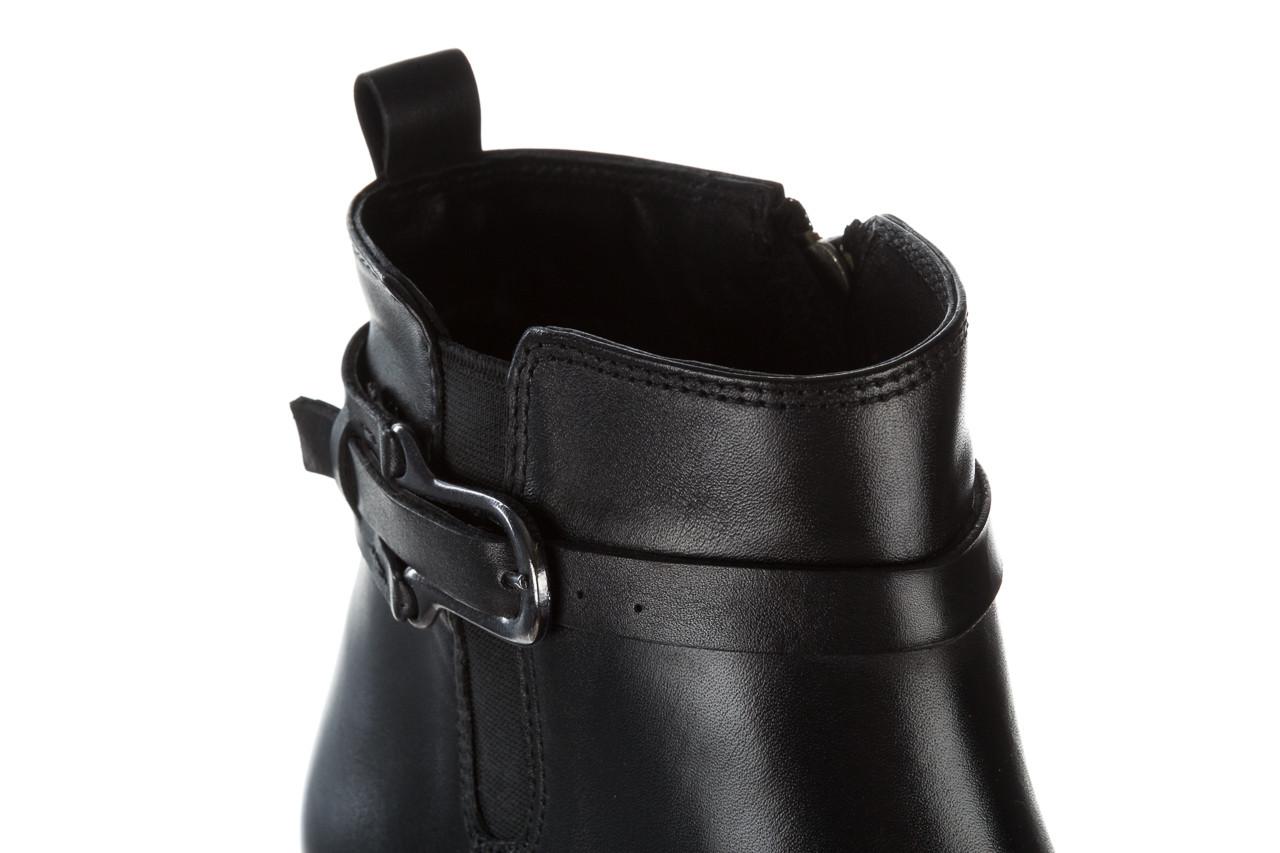Botki bayla 161 077 48461 black 161184, czarny, skóra naturalna  - skórzane - botki - buty damskie - kobieta 21