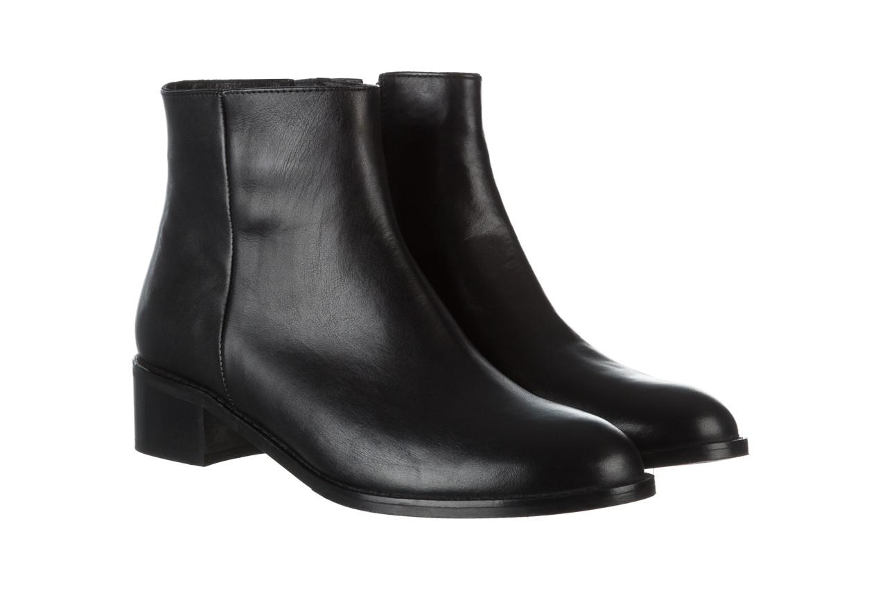 Botki bayla 161 077 47464 black 161183, czarny, skóra naturalna  - botki - buty damskie - kobieta 9