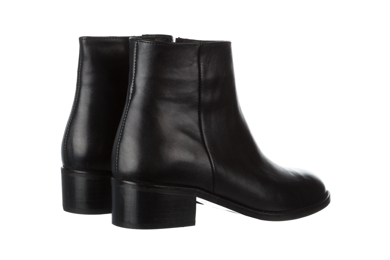 Botki bayla 161 077 47464 black 161183, czarny, skóra naturalna  - botki - buty damskie - kobieta 12