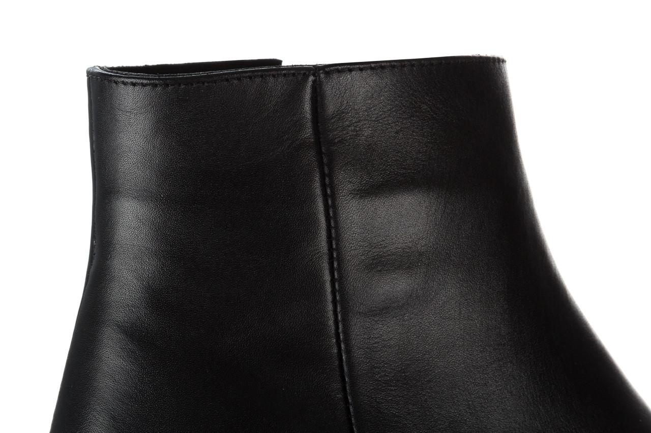 Botki bayla 161 077 47464 black 161183, czarny, skóra naturalna  - botki - buty damskie - kobieta 14