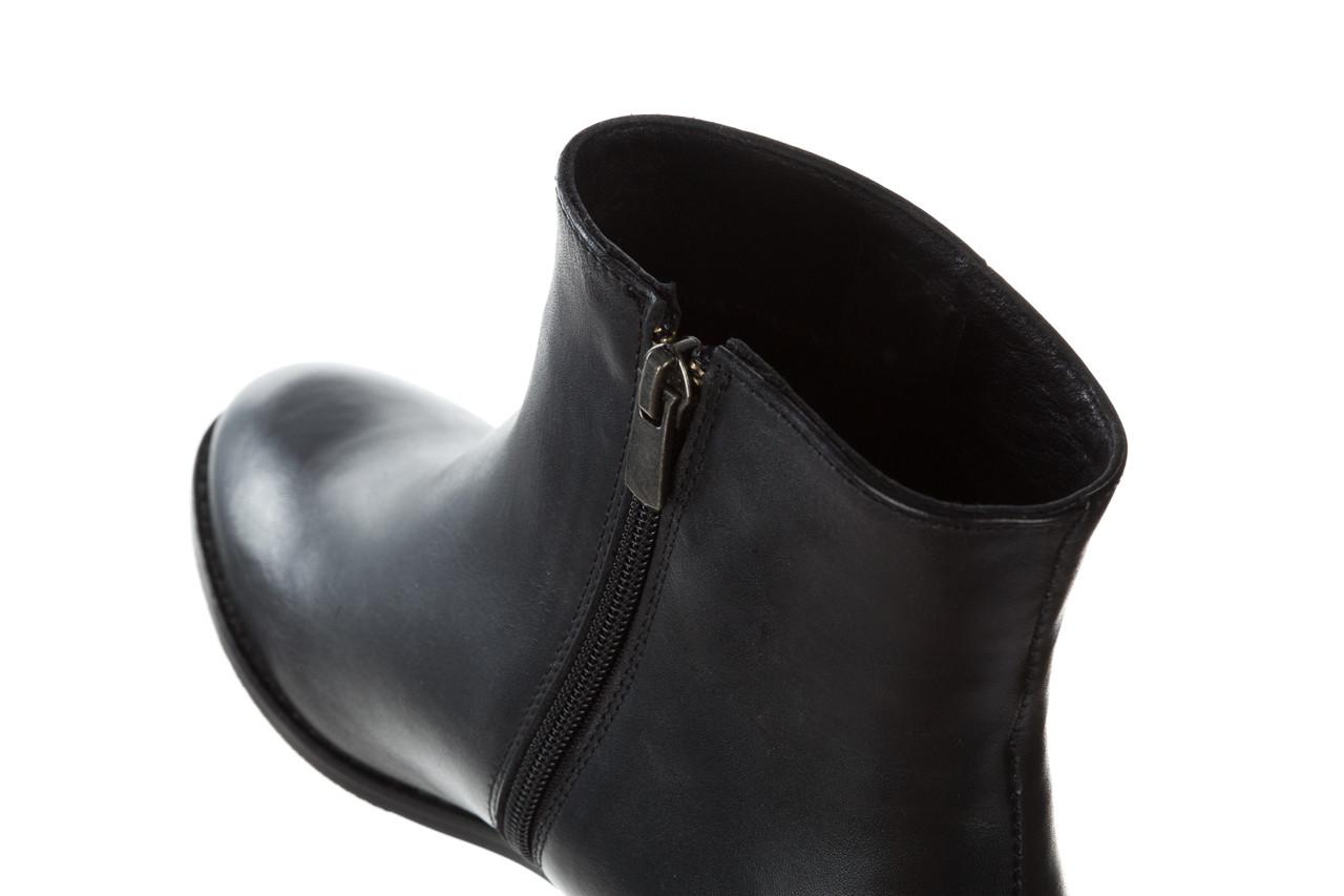 Botki bayla 161 077 47464 black 161183, czarny, skóra naturalna  - botki - buty damskie - kobieta 15