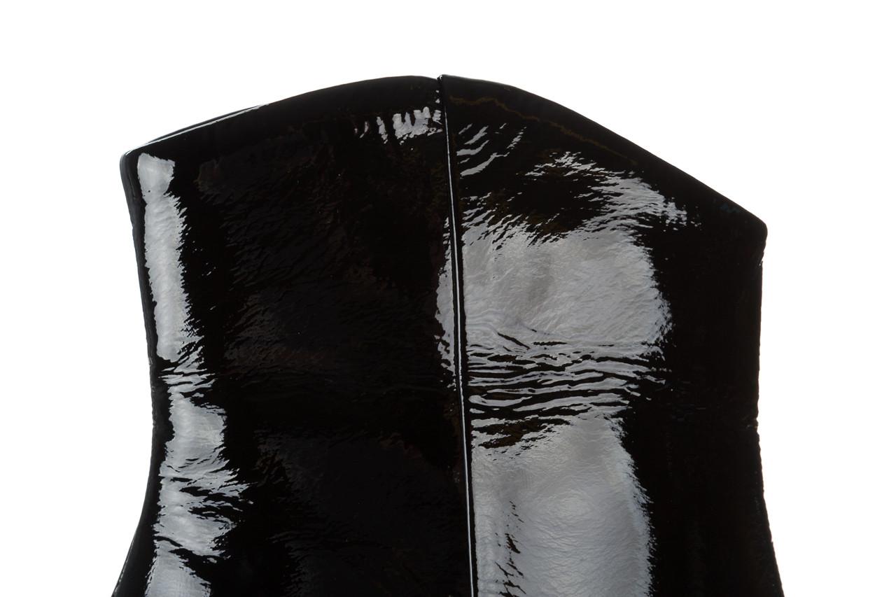 Botki bayla 161 050 022 400 black patent 161167, czarny, skóra naturalna lakierowana  - kobieta 13