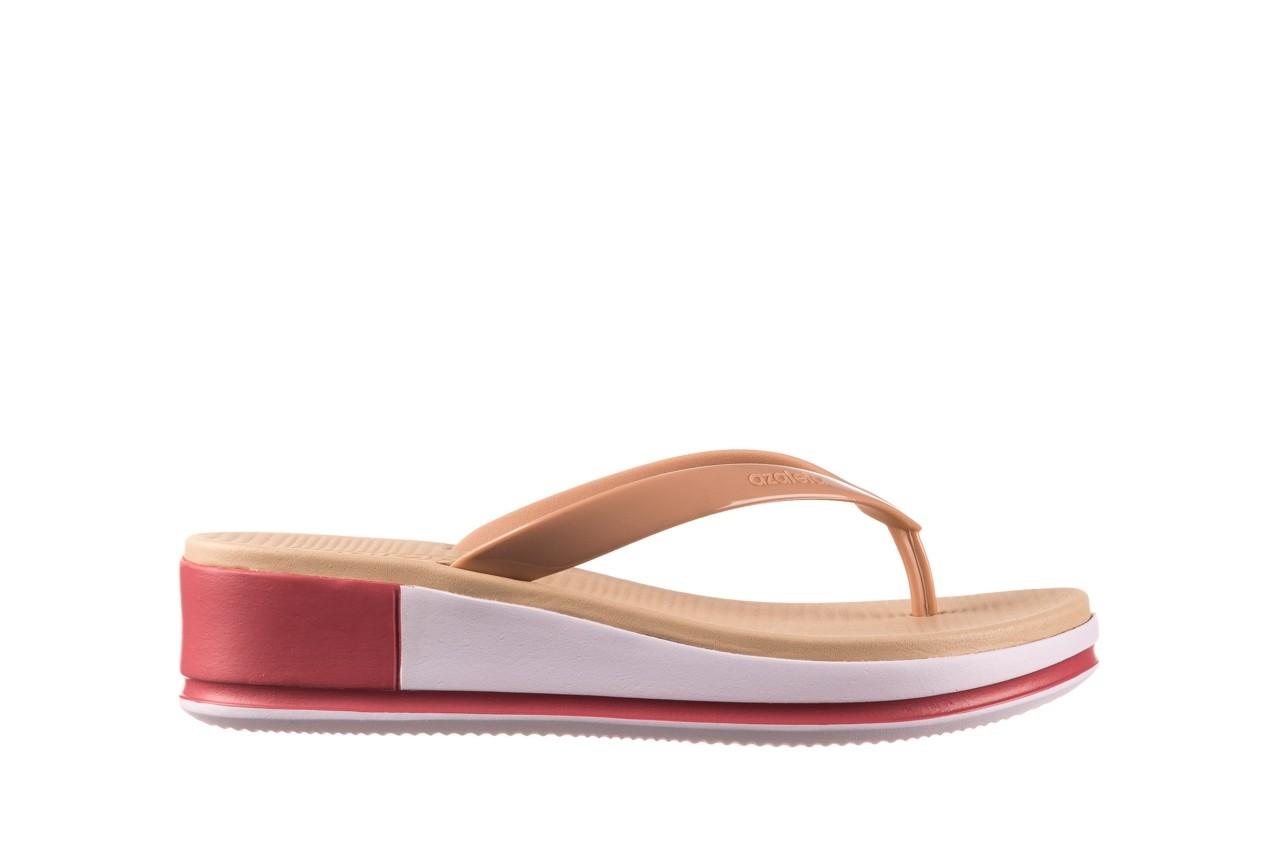 Klapki azaleia 281 517 nude multi, beż, guma - japonki - klapki - buty damskie - kobieta 7