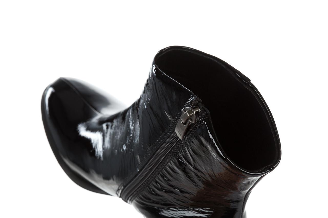 Botki bayla 161 050 022 400 black patent 161167, czarny, skóra naturalna lakierowana  - kobieta 14