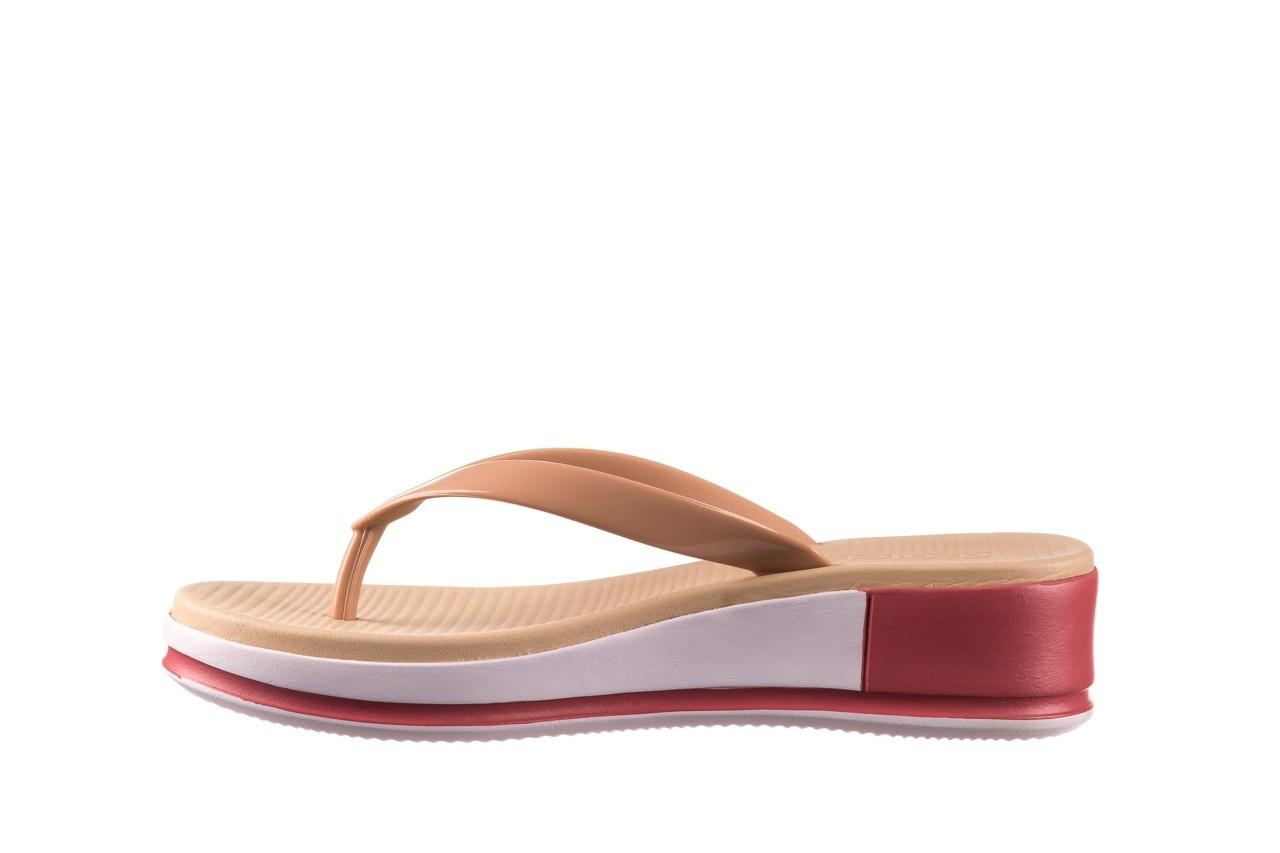 Klapki azaleia 281 517 nude multi, beż, guma - japonki - klapki - buty damskie - kobieta 9