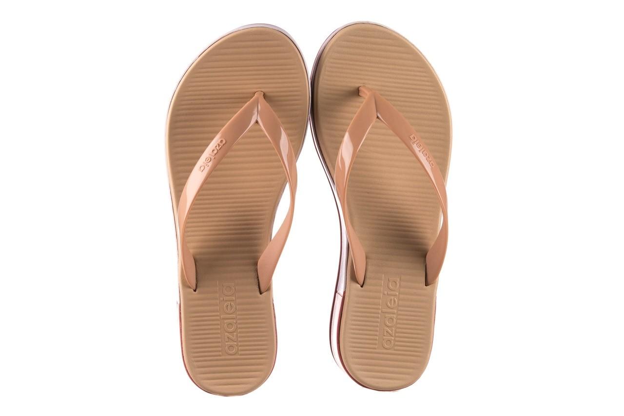 Klapki azaleia 281 517 nude multi, beż, guma - japonki - klapki - buty damskie - kobieta 11