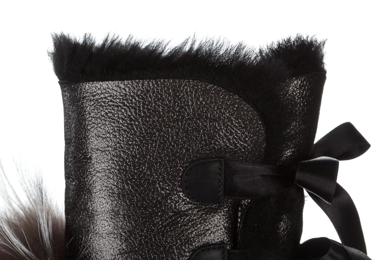 Śniegowce bayla 161 017 2010 82 platin satin 161160, czarny, skóra naturalna  - trendy - kobieta 21