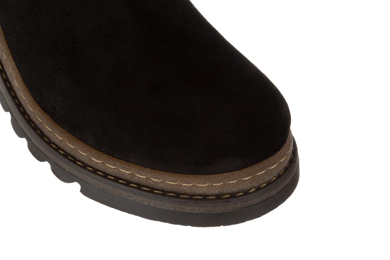 Trzewiki bayla 161 050 0402 9 28 black suede 161170, czarny, skóra naturalna 17