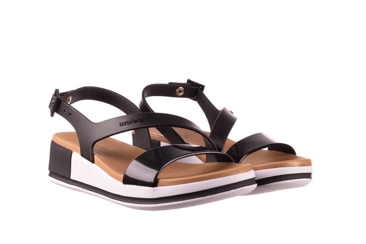 Sandały azaleia 281 584 black, czarny, guma - sandały - dla niej  - sale 8