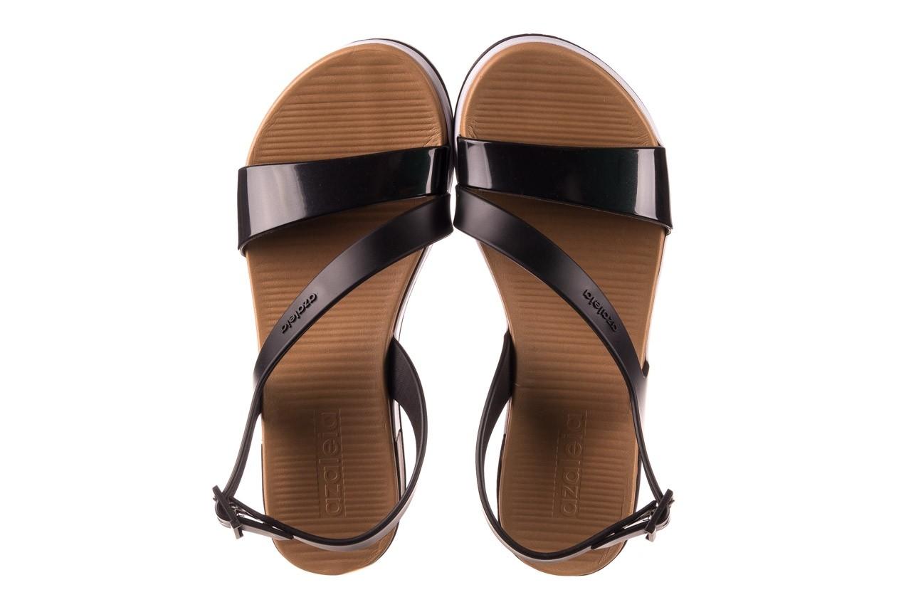 Sandały azaleia 281 584 black, czarny, guma - sandały - dla niej  - sale 10