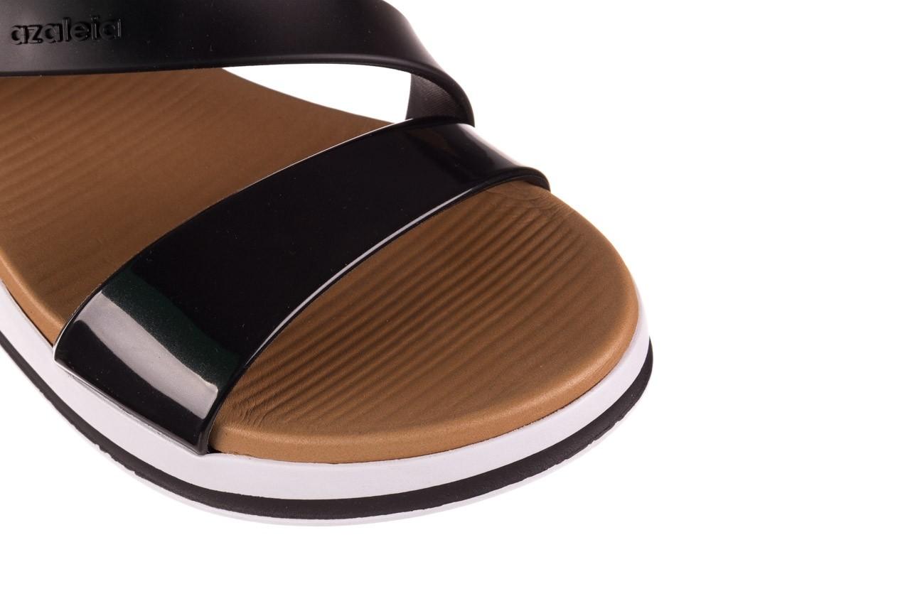 Sandały azaleia 281 584 black, czarny, guma - sandały - dla niej  - sale 11