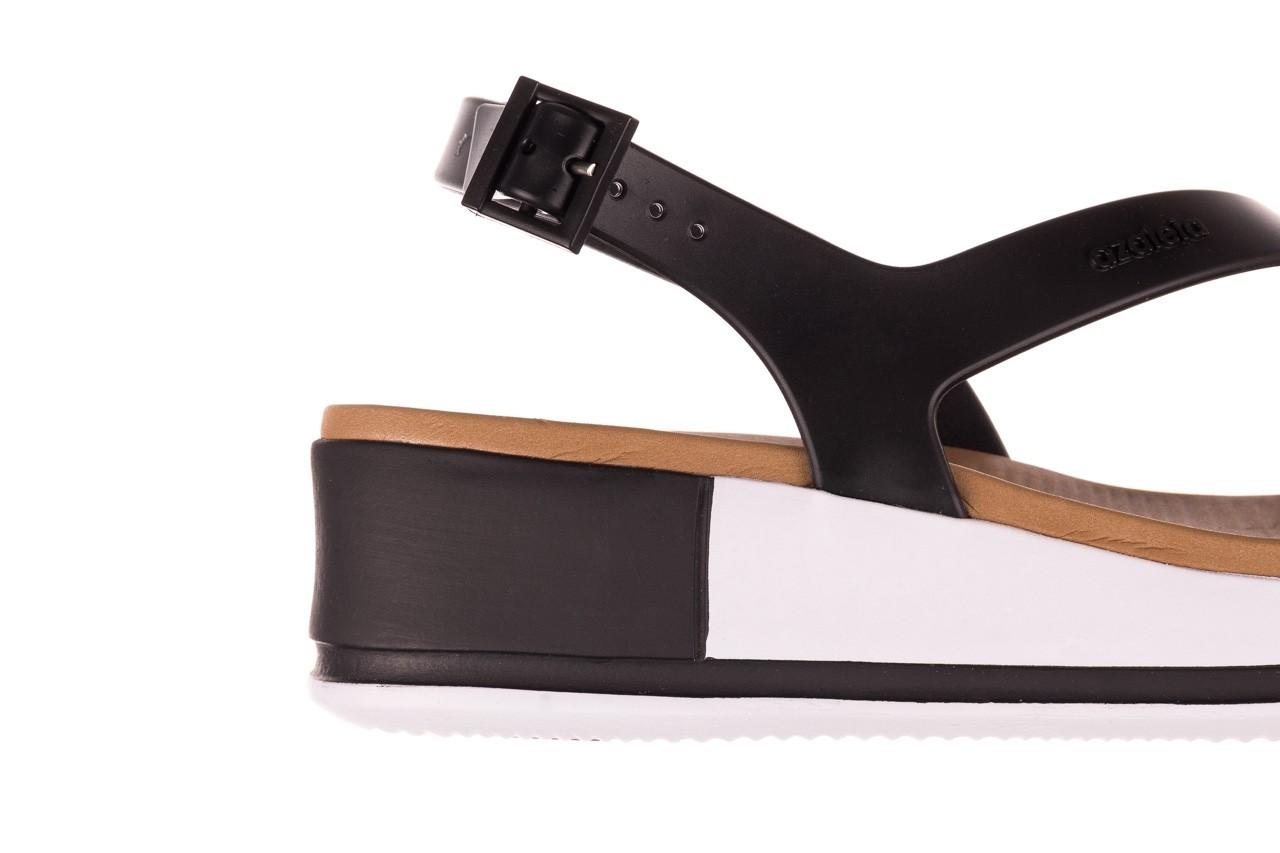 Sandały azaleia 281 584 black, czarny, guma - sandały - dla niej  - sale 12