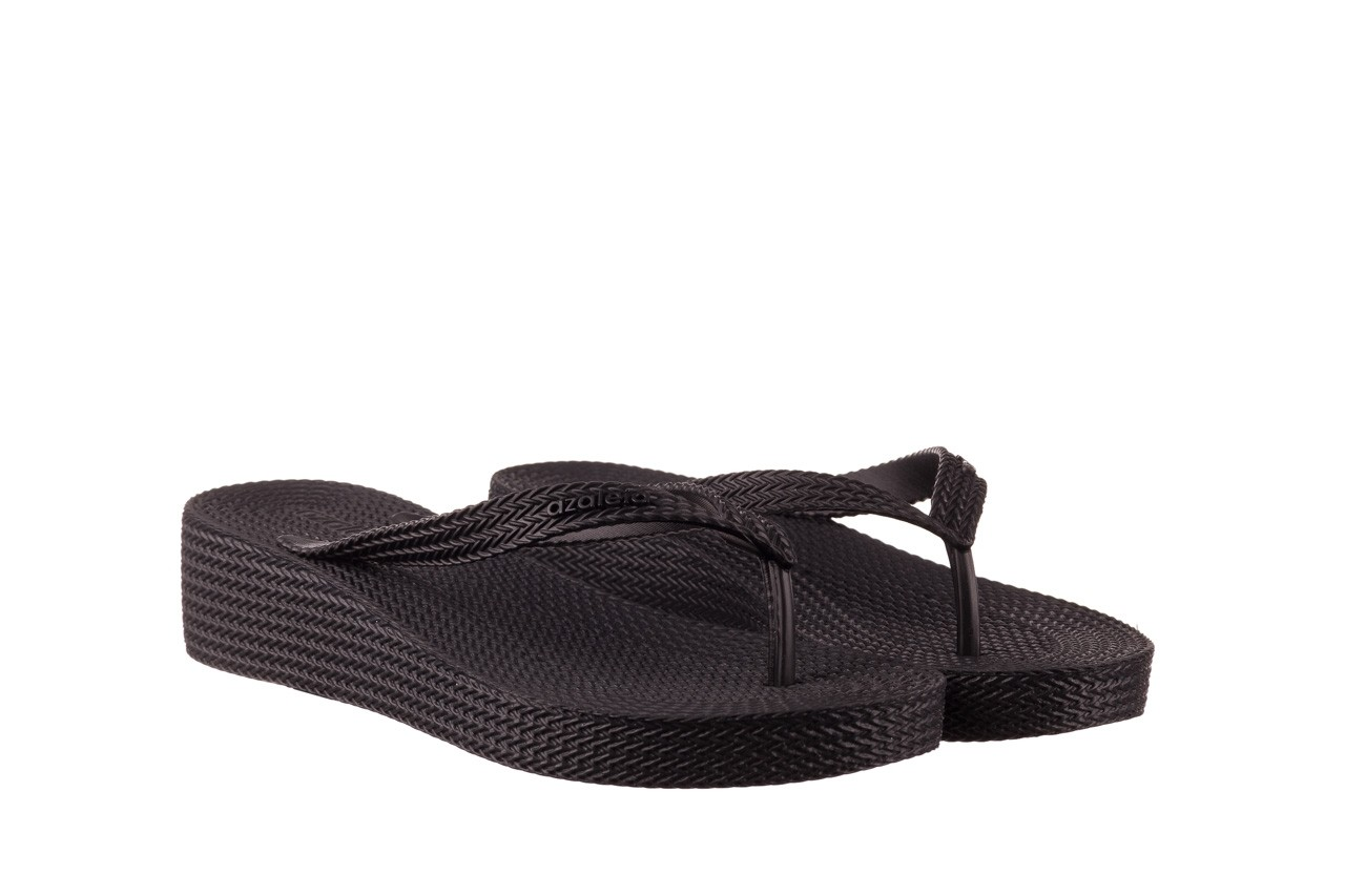 Klapki azaleia 296 505 black, czarny, guma - gumowe/plastikowe - klapki - buty damskie - kobieta 8