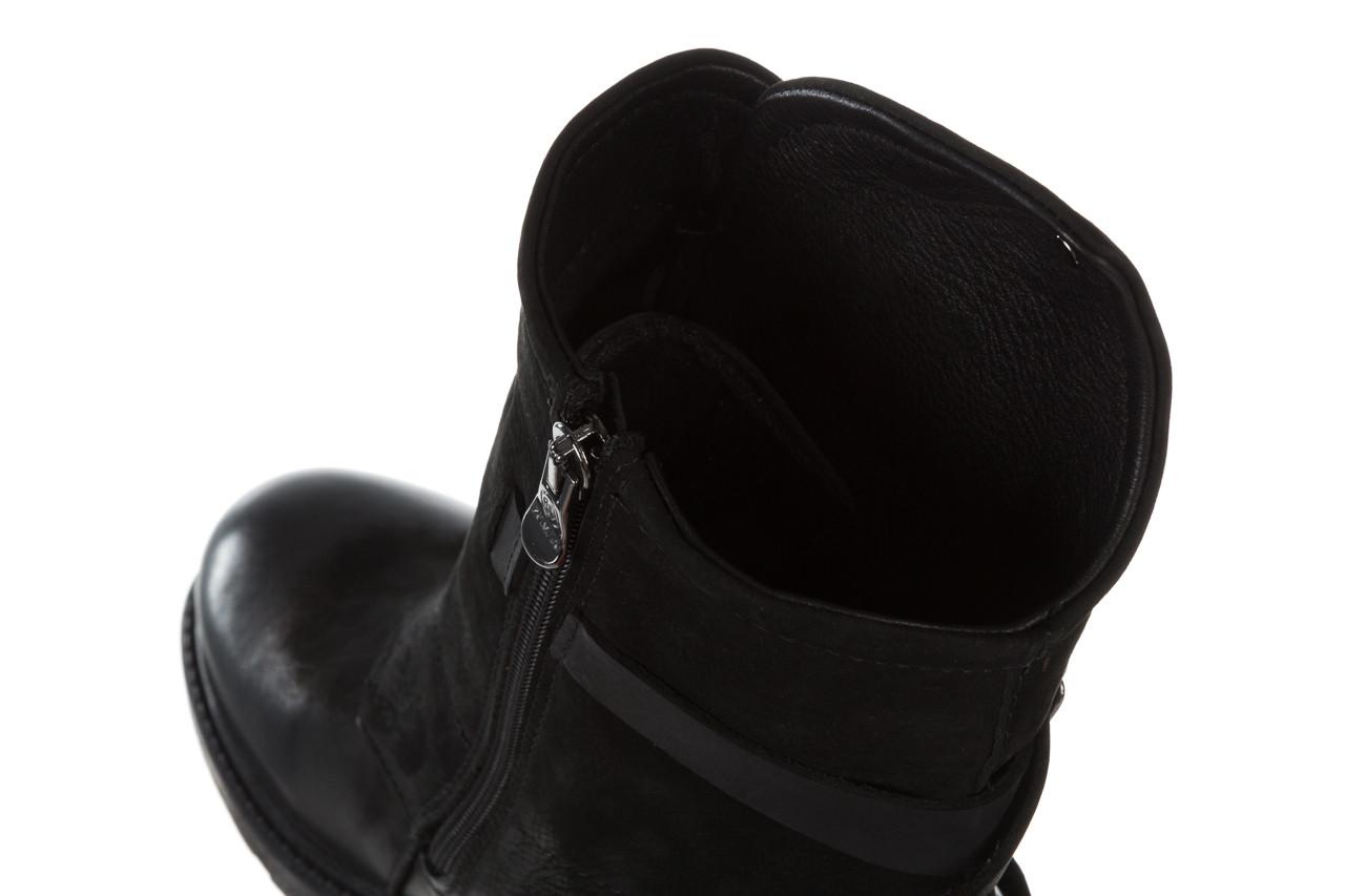 Trzewiki bayla 161 050 2330 010 black nubuck 161173, czarny, skóra naturalna  - trendy - kobieta 20