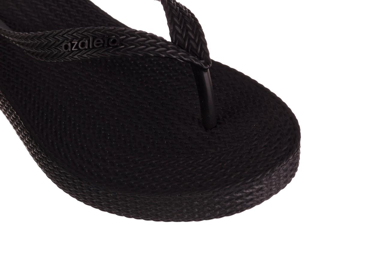 Klapki azaleia 296 505 black, czarny, guma - gumowe/plastikowe - klapki - buty damskie - kobieta 12