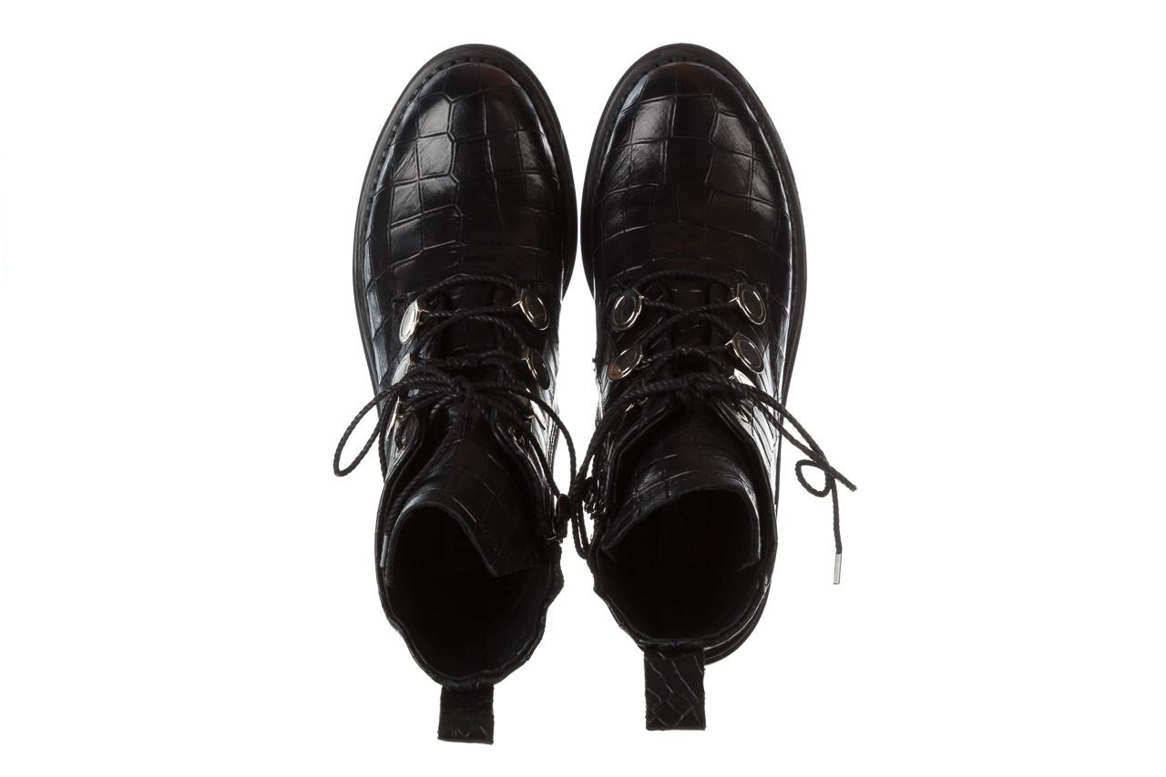 Trzewiki bayla 161 050 7263 3085 black croco 161178, czarny, skóra naturalna  - sale 18