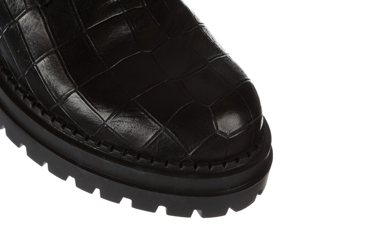 Trzewiki bayla 161 050 7263 3085 black croco 161178, czarny, skóra naturalna  - kobieta 19