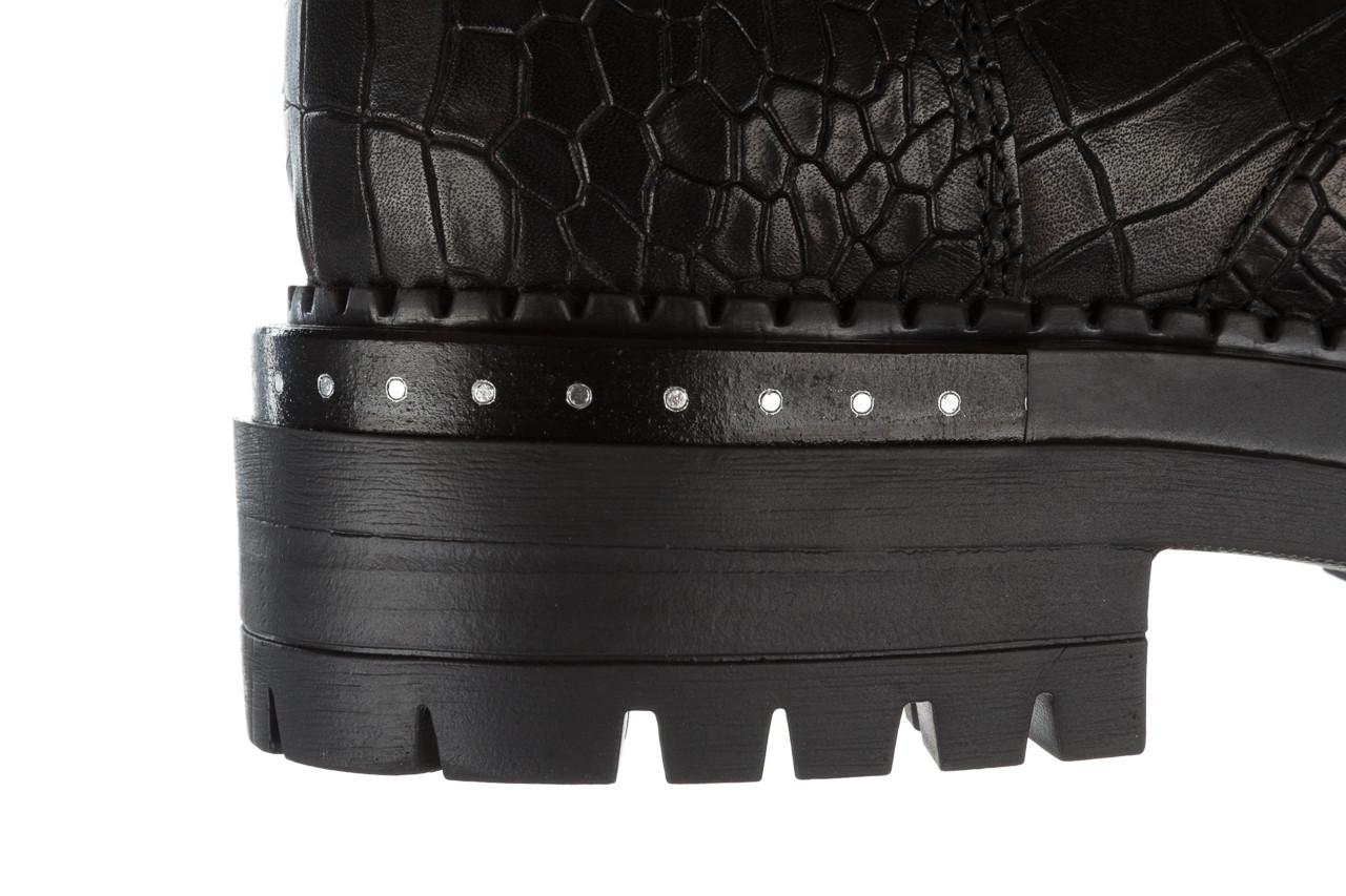Trzewiki bayla 161 050 7263 3085 black croco 161178, czarny, skóra naturalna  - sale 23