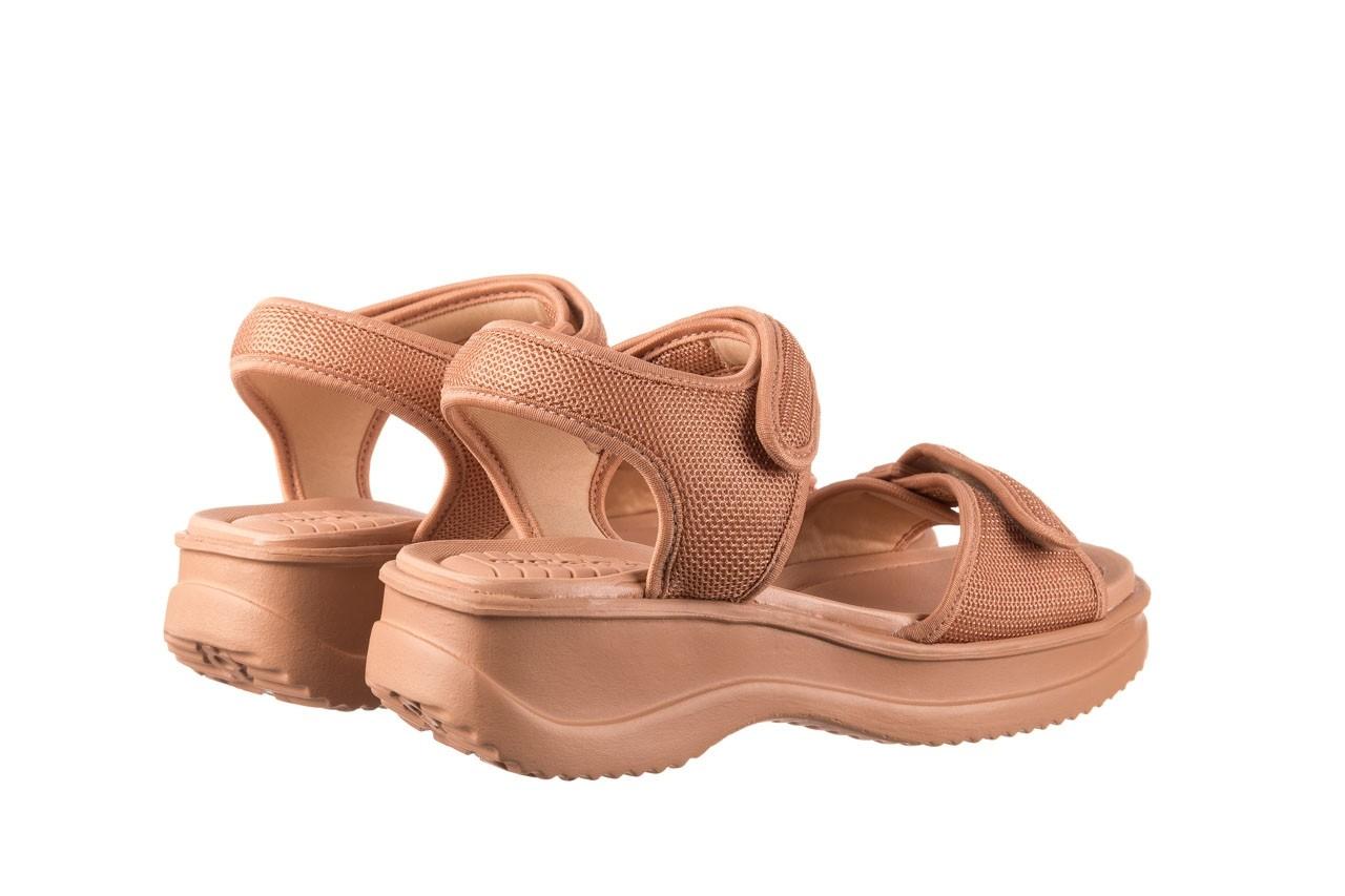 Sandały azaleia 320 321 nude, róż, materiał - sandały - buty damskie - kobieta 10