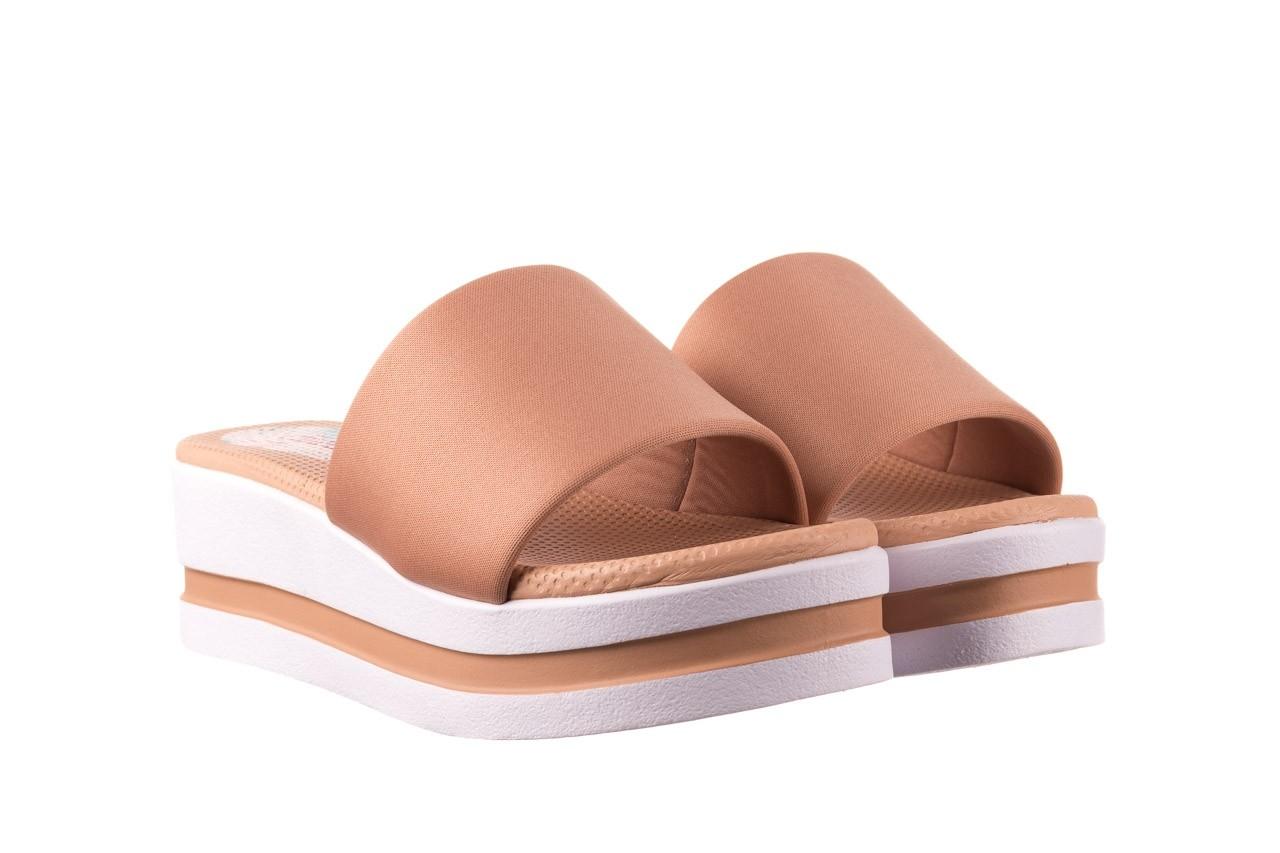 Klapki dijean 485 359 nude, beż, materiał  - klapki - buty damskie - kobieta 8