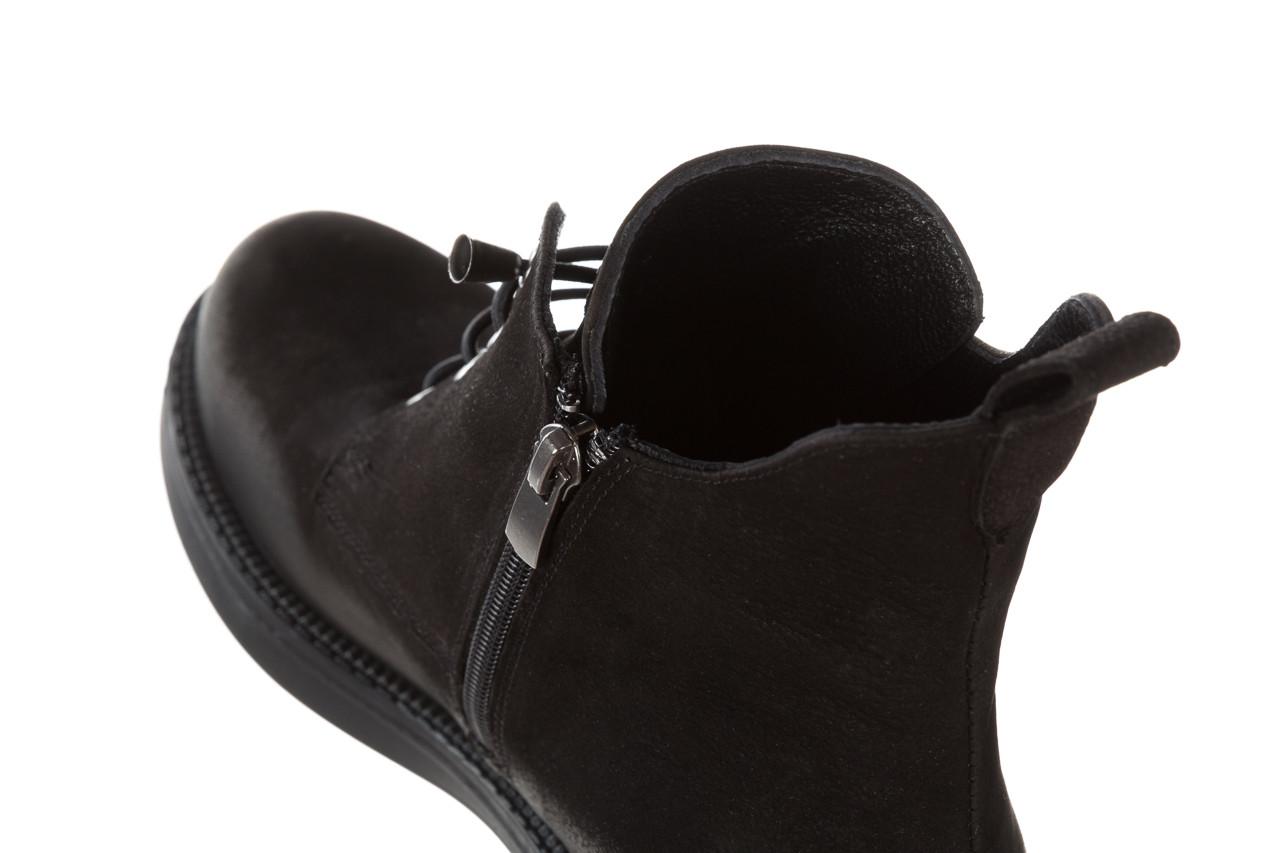 Trzewiki bayla 161 020 56 n1 black nubuck 161165, czarny, skóra naturalna  - kobieta 18