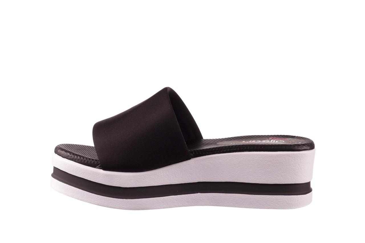 Klapki dijean 485 359 black, czarny, materiał  - klapki - dla niej  - sale 9