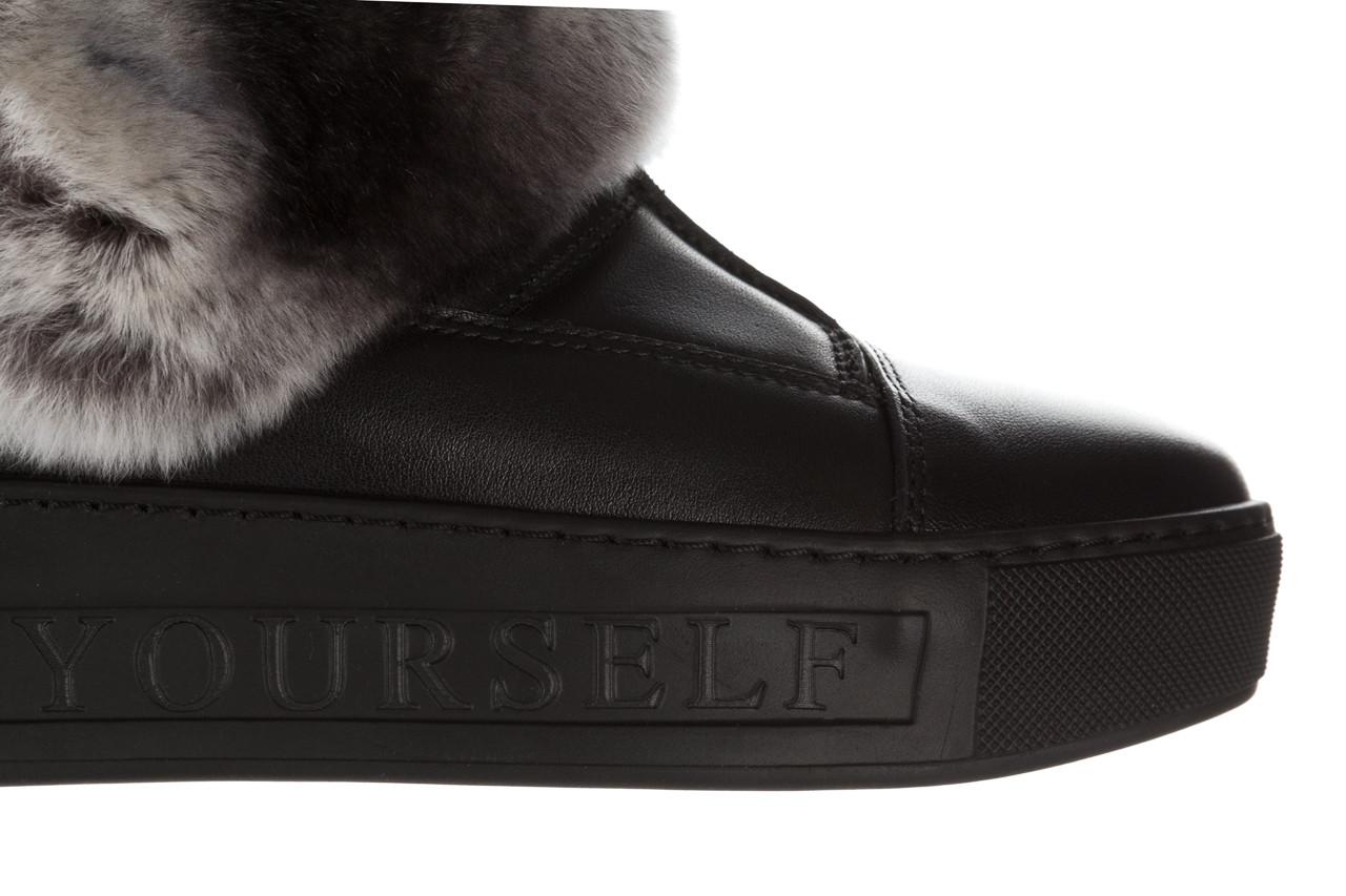 Śniegowce bayla 161 017 2021 02 black 161161, czarny, skóra naturalna  - śniegowce - śniegowce i kalosze - buty damskie - kobieta 18