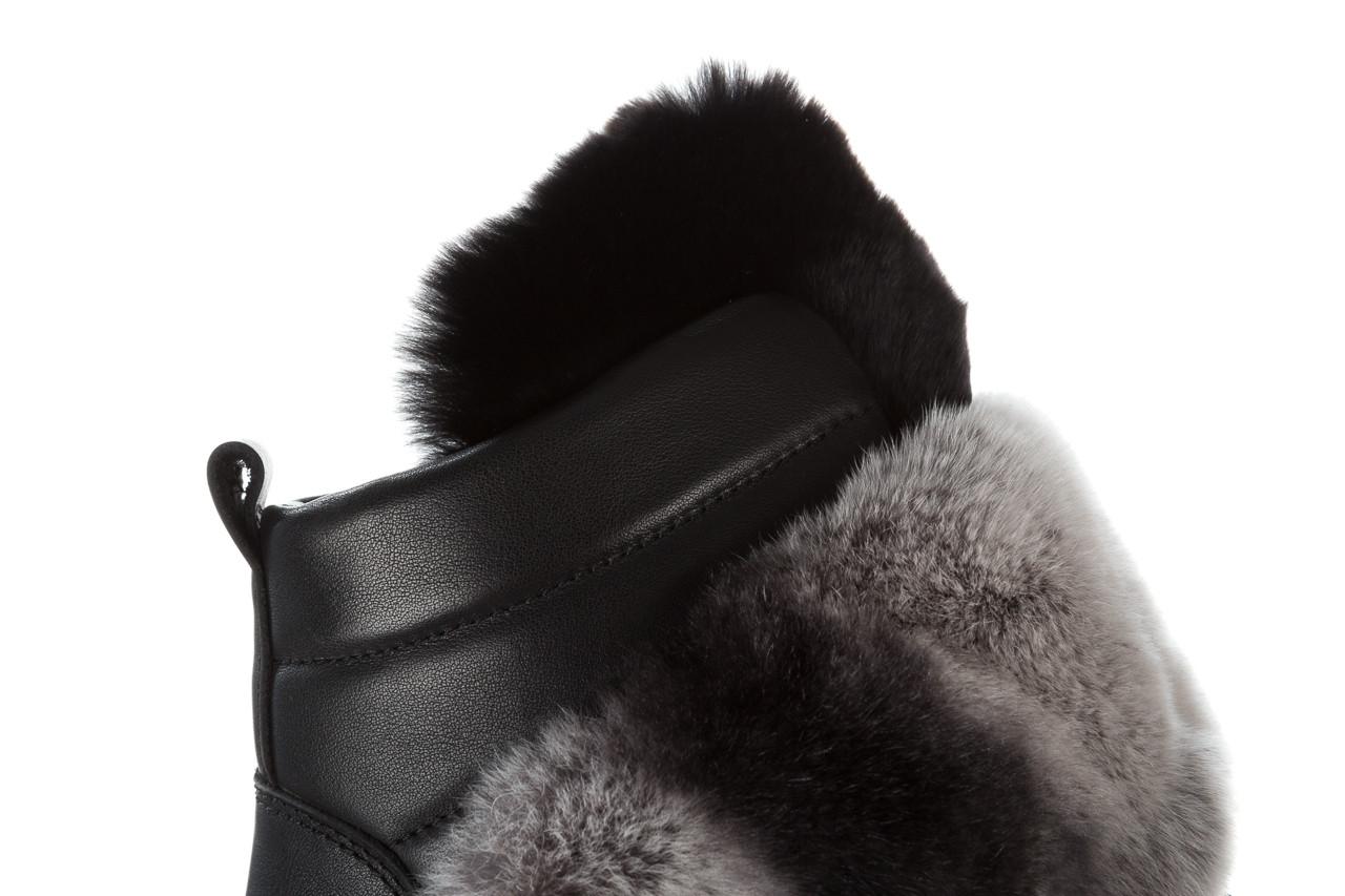 Śniegowce bayla 161 017 2021 02 black 161161, czarny, skóra naturalna  - śniegowce - śniegowce i kalosze - buty damskie - kobieta 21
