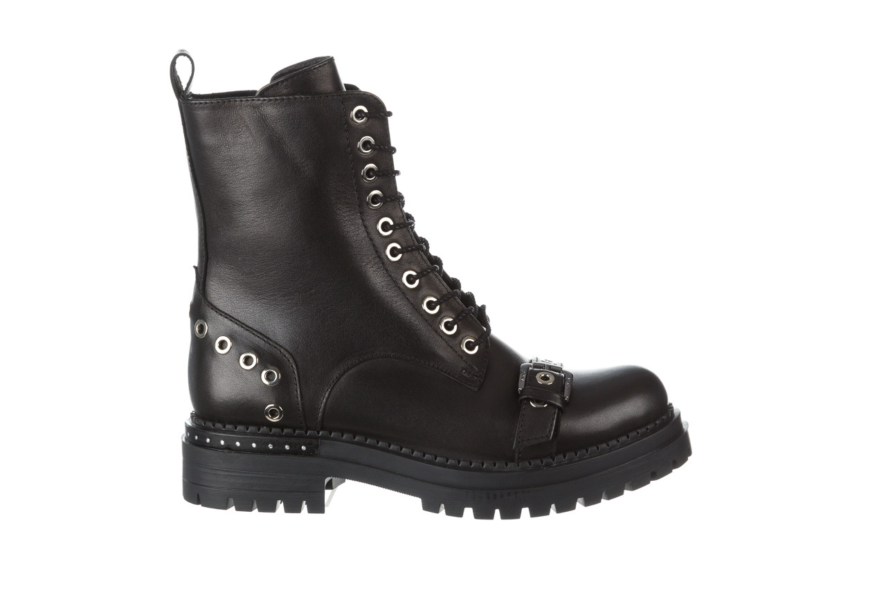 Trzewiki bayla 161 050 7255  01 black 161176, czarny, skóra naturalna  - trzewiki - buty damskie - kobieta 12