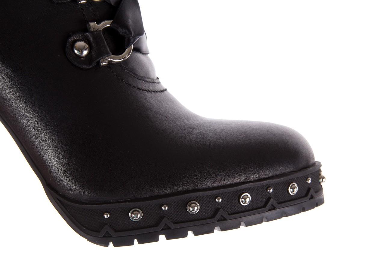 Botki bayla-144 9308 czarne botki 144020, skóra naturalna - worker boots - trendy - kobieta 16