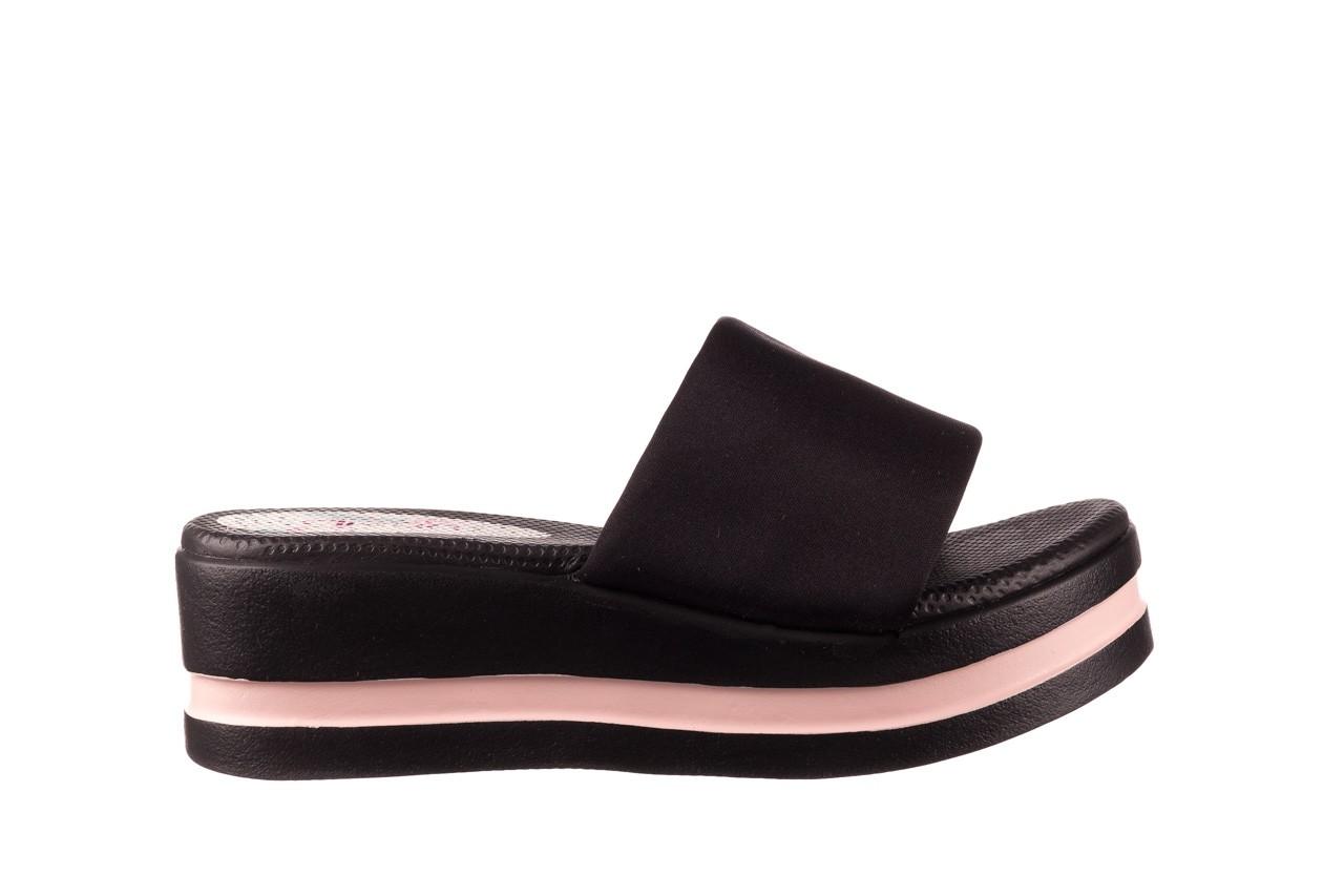 Klapki dijean 485 359 black vanilla, czarny, materiał  - na koturnie - klapki - buty damskie - kobieta 7