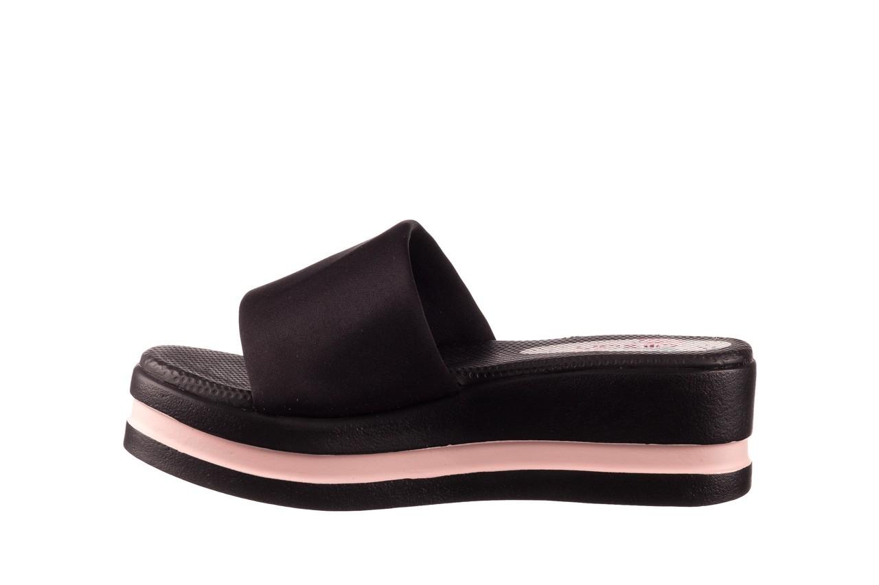 Klapki dijean 485 359 black vanilla, czarny, materiał  - na koturnie - klapki - buty damskie - kobieta 9