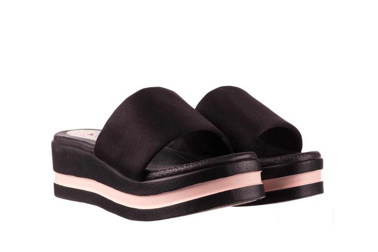 Klapki dijean 485 359 black vanilla, czarny, materiał  - na koturnie - klapki - buty damskie - kobieta 8