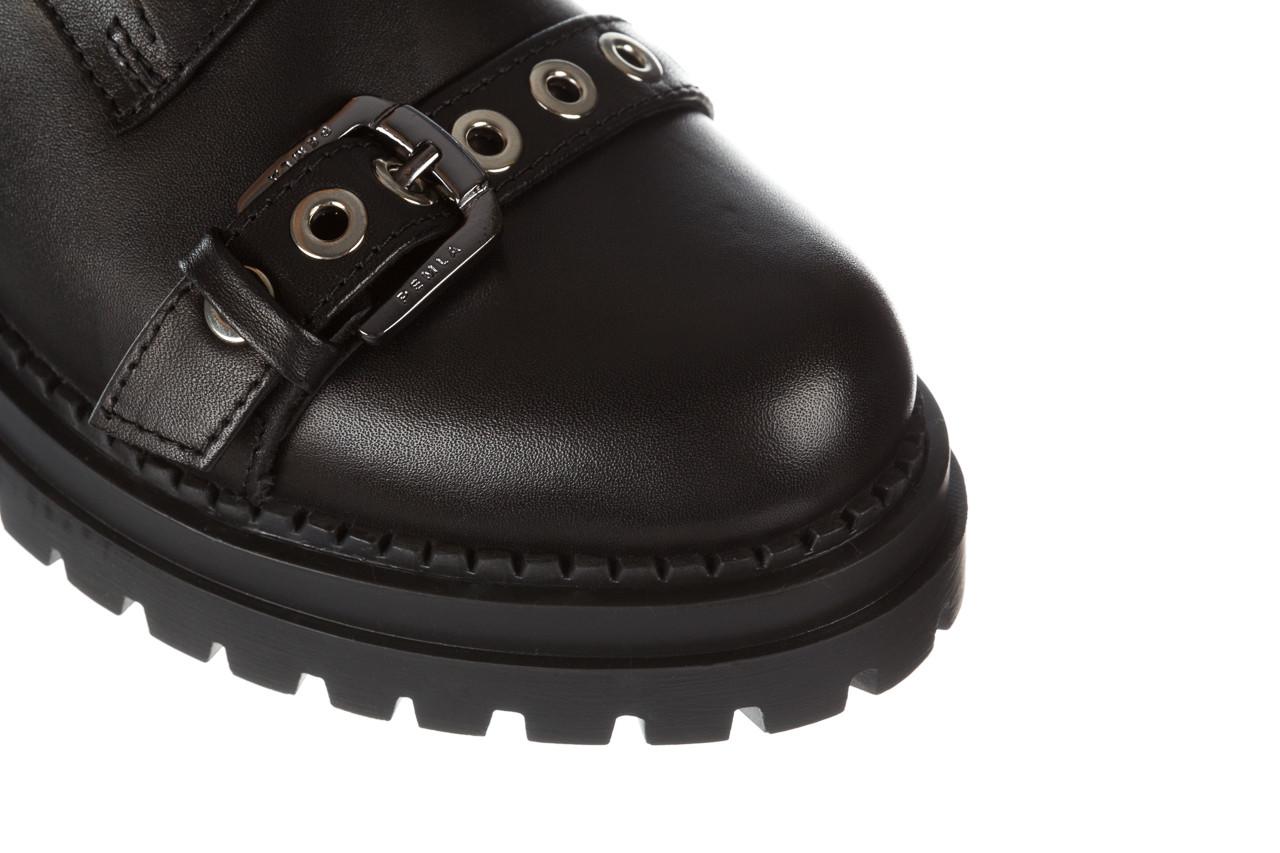 Trzewiki bayla 161 050 7255  01 black 161176, czarny, skóra naturalna  - trzewiki - buty damskie - kobieta 18