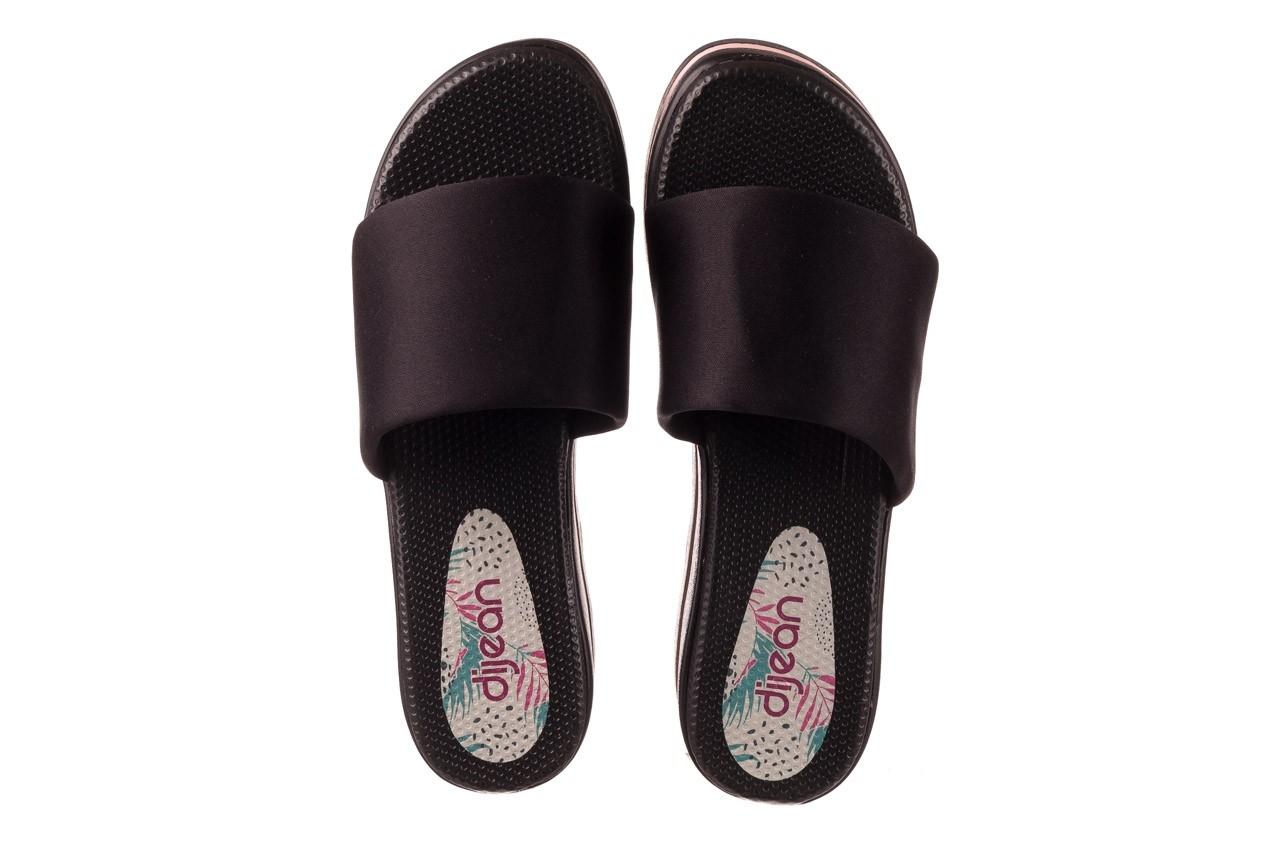 Klapki dijean 485 359 black vanilla, czarny, materiał  - na koturnie - klapki - buty damskie - kobieta 11