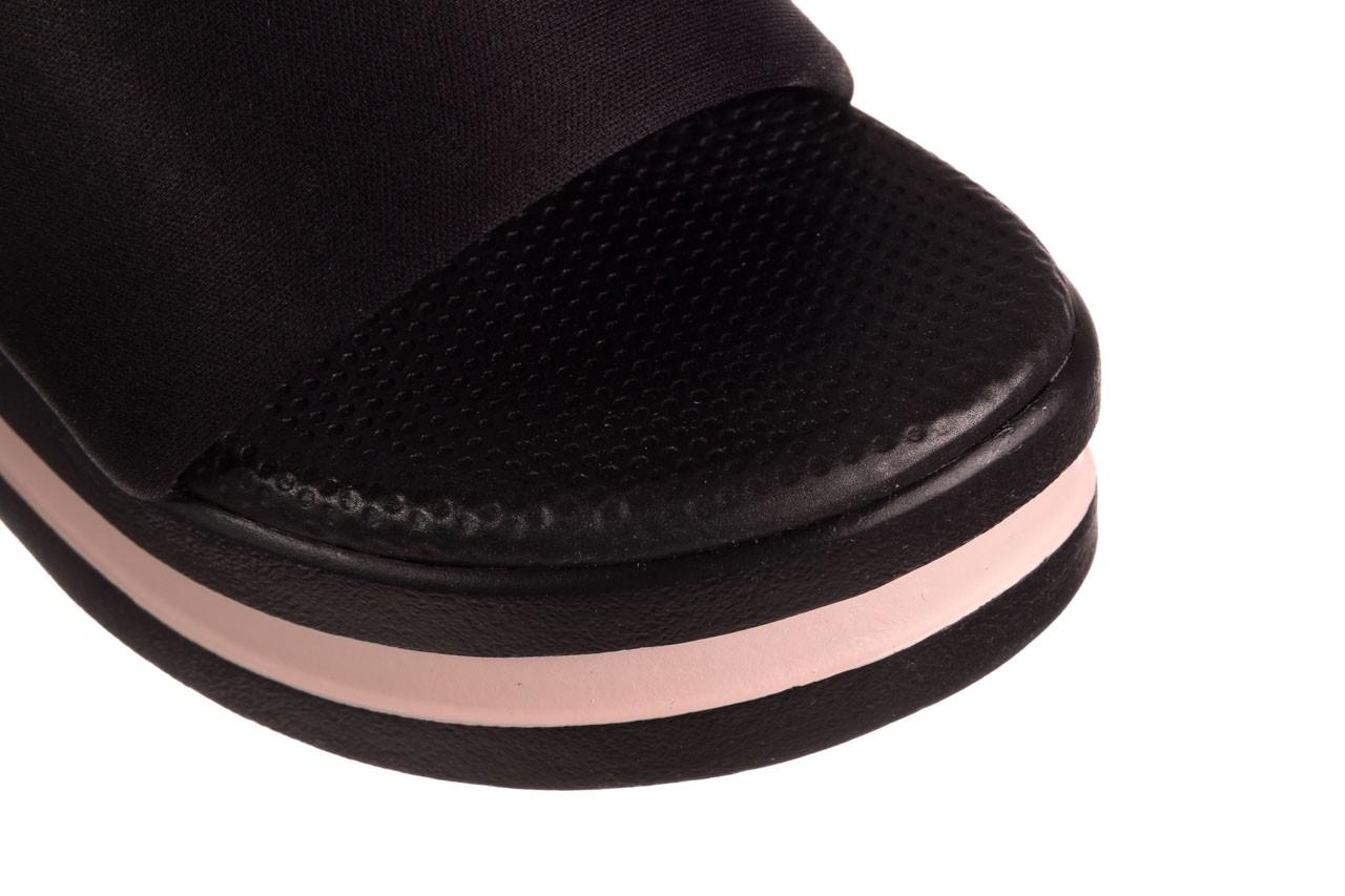 Klapki dijean 485 359 black vanilla, czarny, materiał  - na koturnie - klapki - buty damskie - kobieta 12