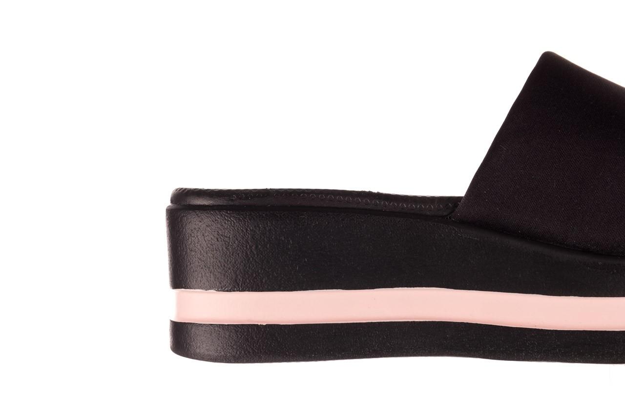 Klapki dijean 485 359 black vanilla, czarny, materiał  - na koturnie - klapki - buty damskie - kobieta 13
