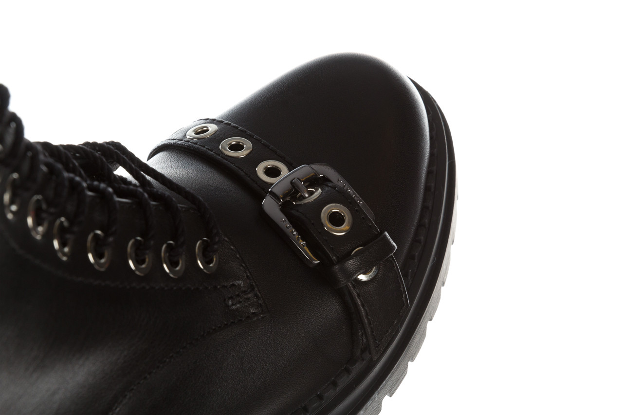 Trzewiki bayla 161 050 7255  01 black 161176, czarny, skóra naturalna  - trzewiki - buty damskie - kobieta 23