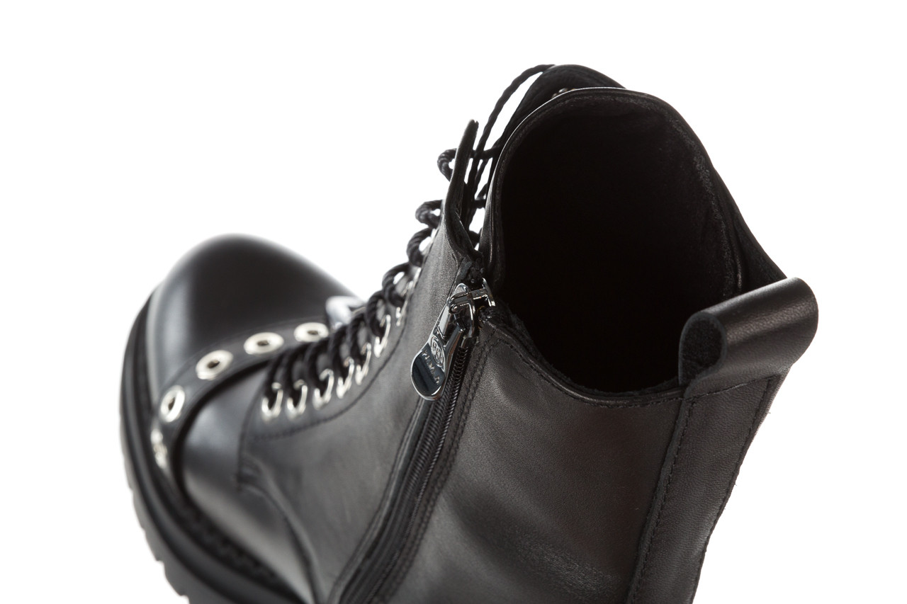 Trzewiki bayla 161 050 7255  01 black 161176, czarny, skóra naturalna  - trzewiki - buty damskie - kobieta 22
