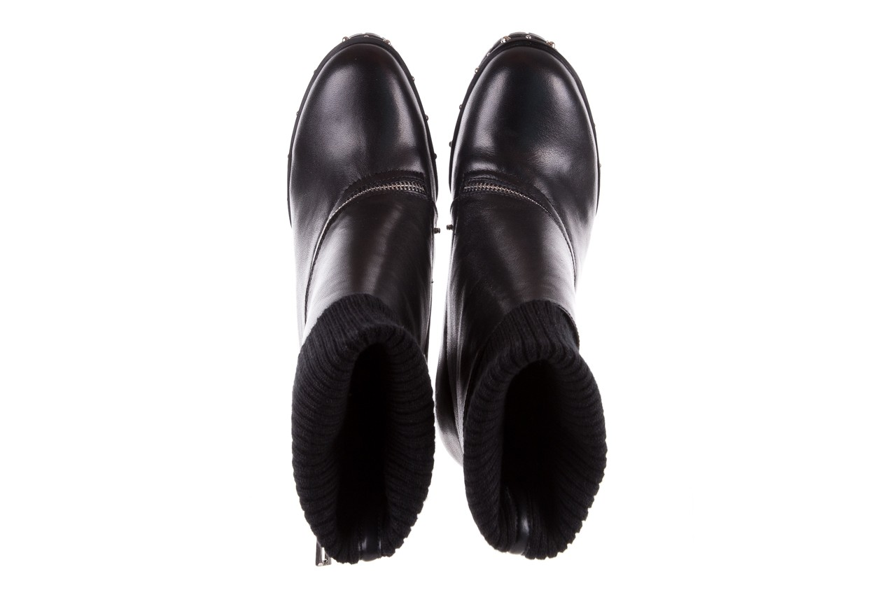 Botki bayla-144 9307 czarne botki 144019, skóra naturalna  - bayla - nasze marki 19
