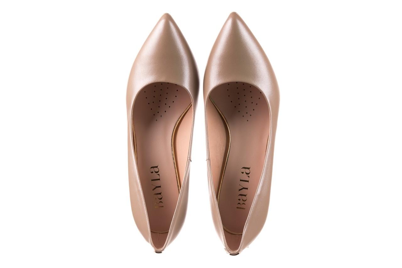 Czółenka bayla-056 1816-1421 beż 20, skóra naturalna  - skórzane - czółenka - buty damskie - kobieta 11
