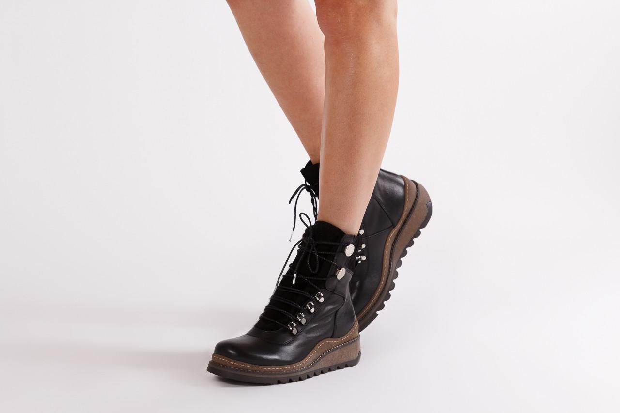 Trzewiki bayla 161 050 0401 9 01 28 black 161168, czarny, skóra naturalna  - trzewiki - buty damskie - kobieta 14