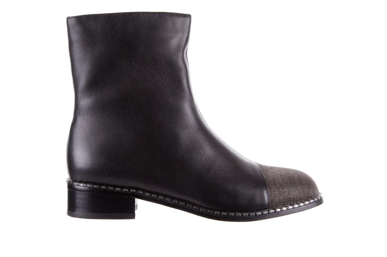 Botki sca'viola f-93 black, czarny, skóra naturalna  - worker boots - trendy - kobieta 10