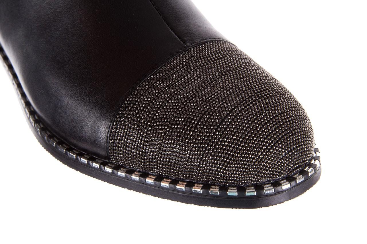 Botki sca'viola f-93 black, czarny, skóra naturalna  - sztyblety - botki - buty damskie - kobieta 18