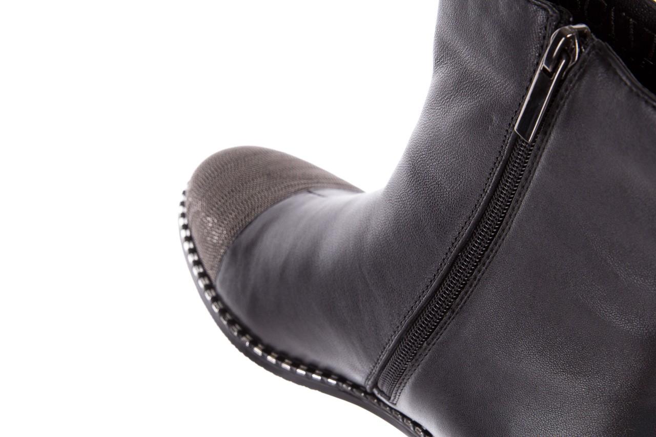 Botki sca'viola f-93 black, czarny, skóra naturalna  - sztyblety - botki - buty damskie - kobieta 17